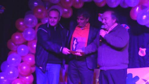 Agosto de 2013: Alfredo Attili y Antonio Filippoli reconocidos por el Club Luján en sus 28 años de labor periodística siguiendo la campaña del primer equipo por Radio Ciudad de Luján FM 104.1